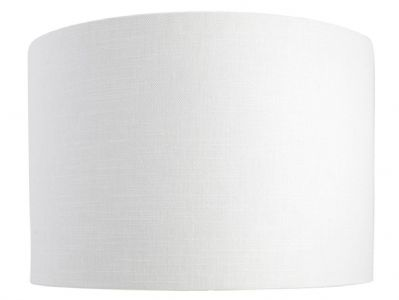 Leanne White Linen Style Cylinder / Drum Lampshade